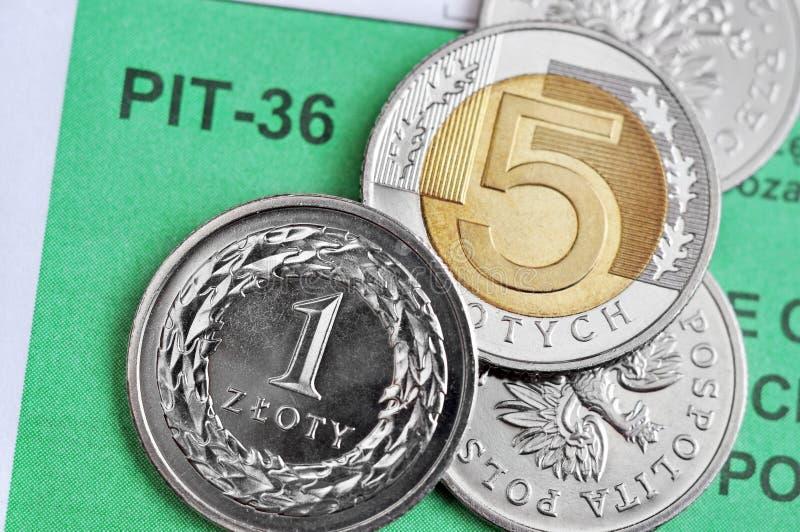 Impuesto sobre la renta polaco imagen de archivo libre de regalías