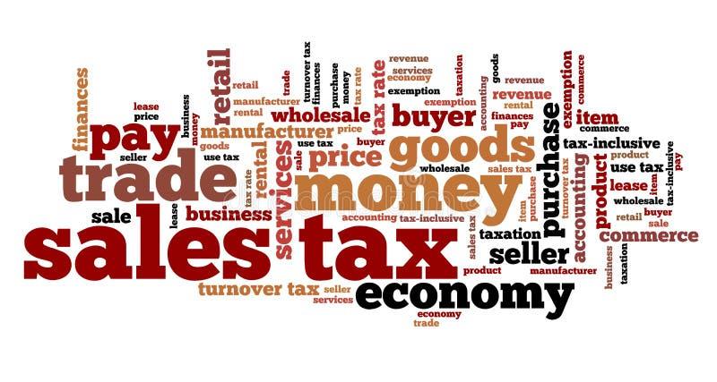 Impuesto sobre venta ilustración del vector