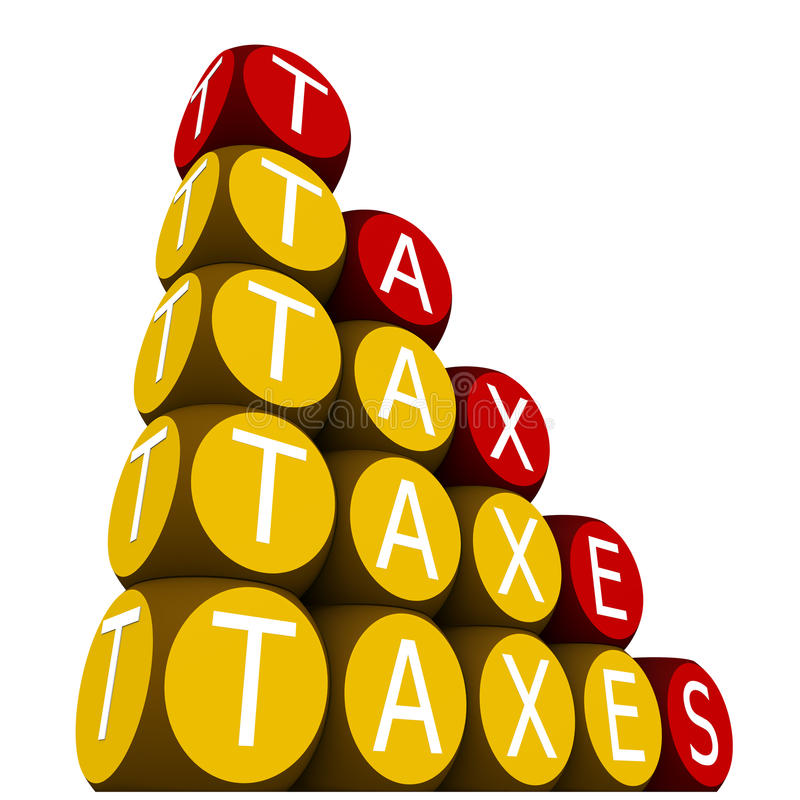 Impuestos stock de ilustración