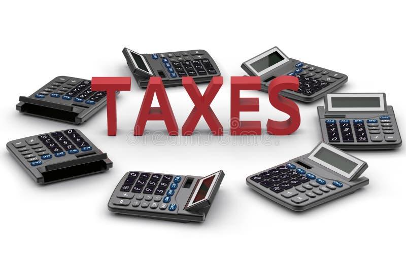 Impuestos - concepto constante del cálculo libre illustration