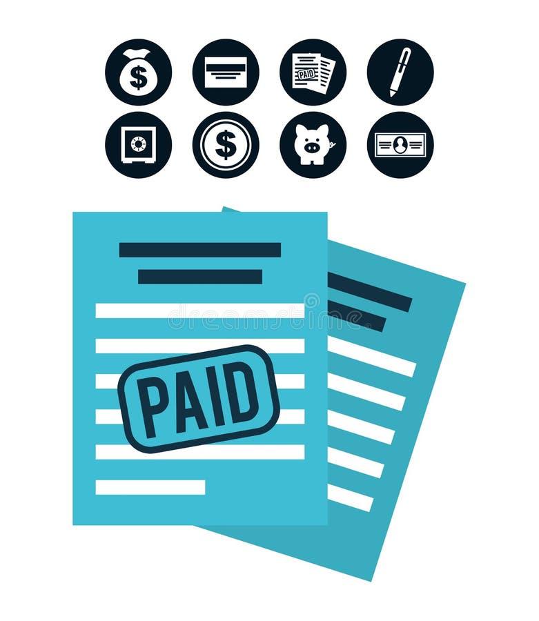 Impuestos de la paga libre illustration