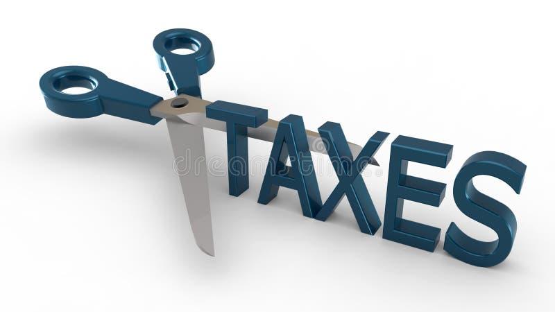 Impuestos del corte libre illustration
