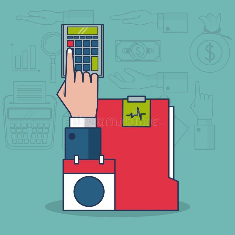 Impuestos e inversión ilustración del vector