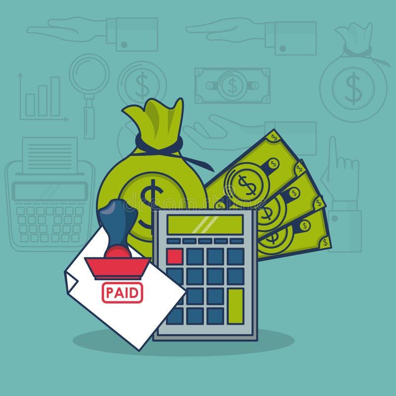 Impuestos e inversión stock de ilustración