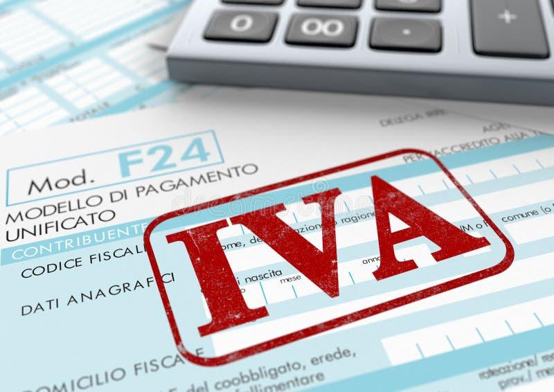 Impuestos italianos libre illustration