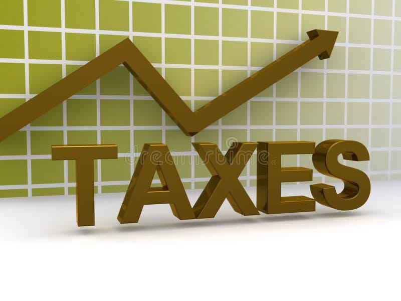 Impuestos que suben ilustración del vector