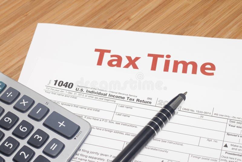 Impuestos sobre la renta fotos de archivo libres de regalías