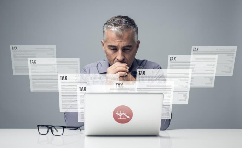 Impuestos y contabilidad imagen de archivo
