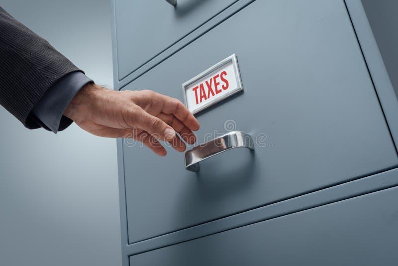 Impuestos y pagos foto de archivo libre de regalías