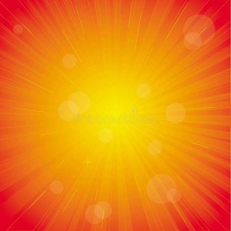 Impuls der roten Leuchte, bunter Hintergrund lizenzfreie abbildung