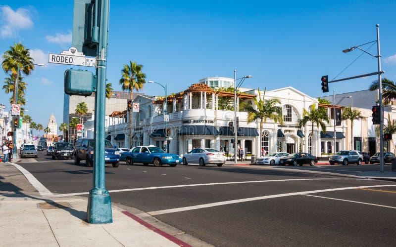 Impulsión Beverly Hills 1 del rodeo imagenes de archivo