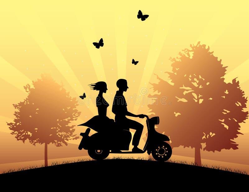 Impulsión de la motocicleta libre illustration