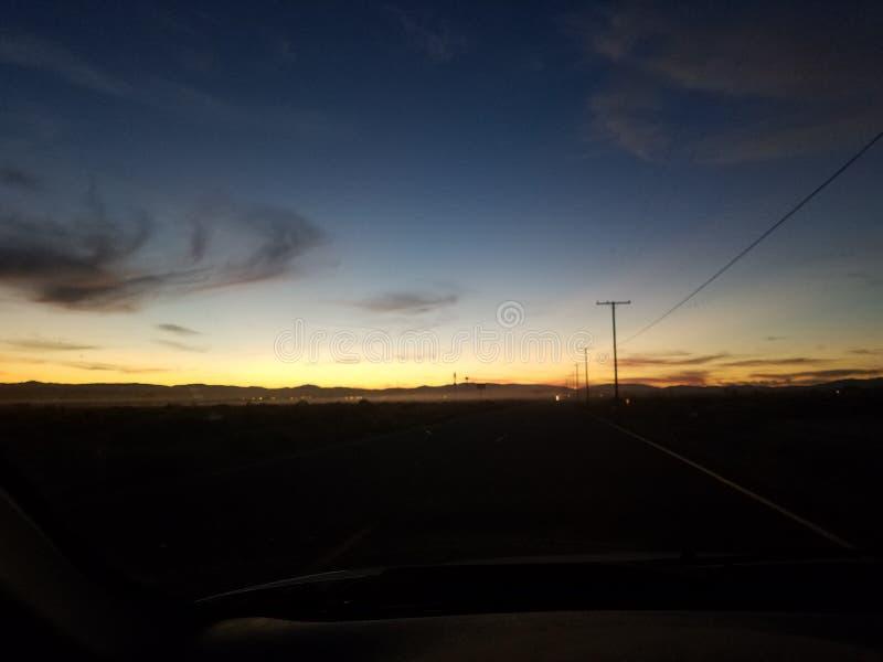 Impulsión de la puesta del sol foto de archivo libre de regalías