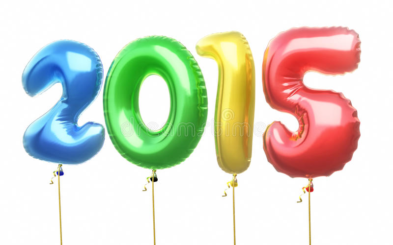 Impulsi variopinti del nuovo anno 2015 royalty illustrazione gratis