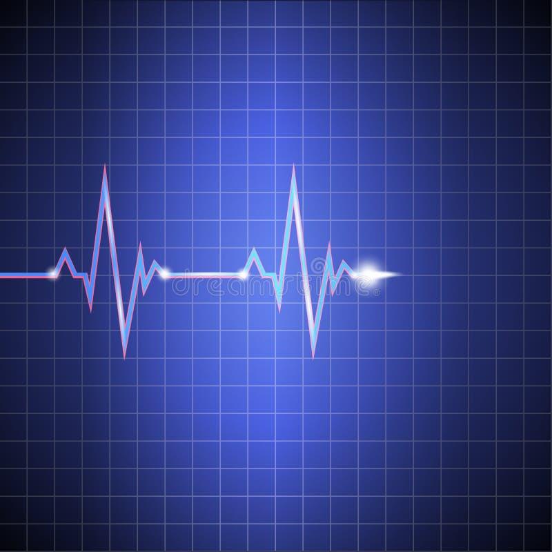 impulsion Cardiogramme sur le moniteur dans la cellule Données de fréquence cardiaque vecteur prêt d'image d'illustrations de tél illustration libre de droits