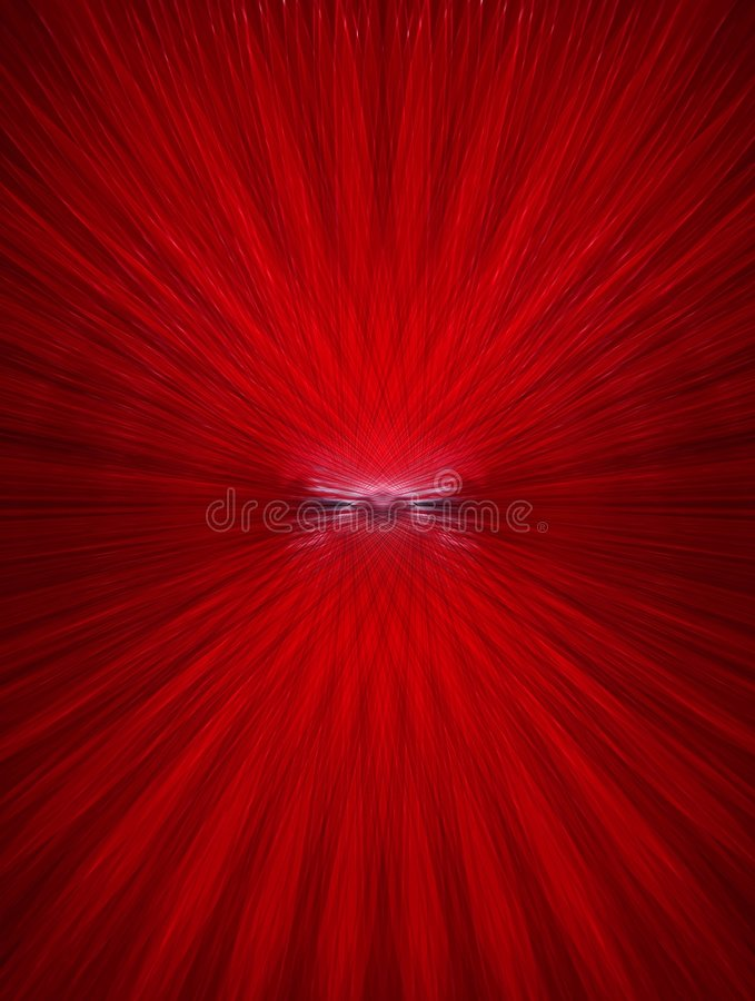 Impulsion rouge illustration de vecteur