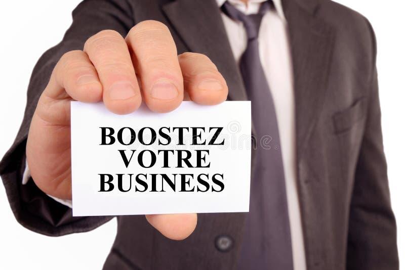 Impulsione seu negócio escrito em francês ilustração royalty free