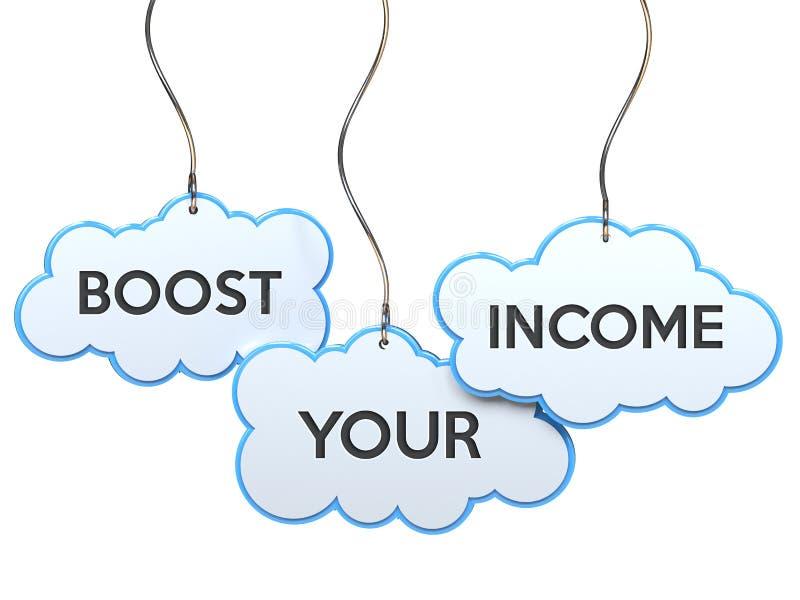 Impulsione sua renda na bandeira da nuvem ilustração do vetor