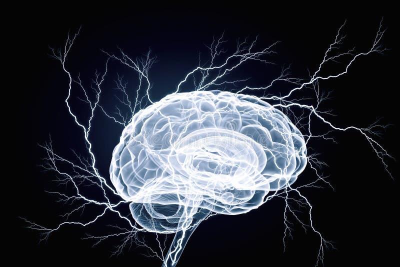 Impulso del cervello umano Media misti immagini stock