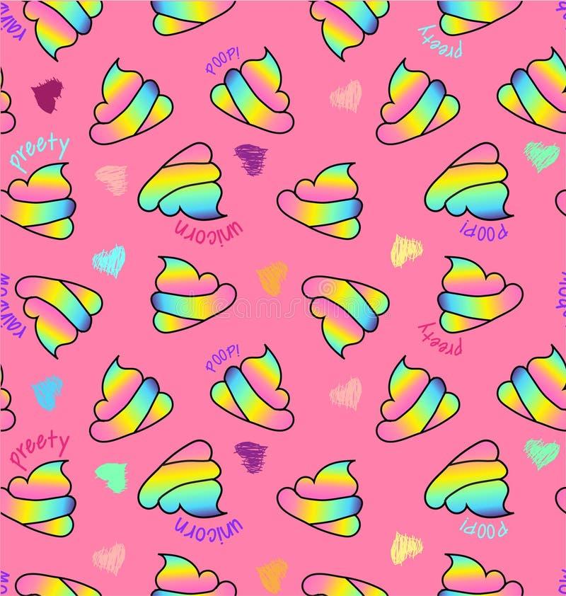 Impulso del unicornio en fondo rosado libre illustration