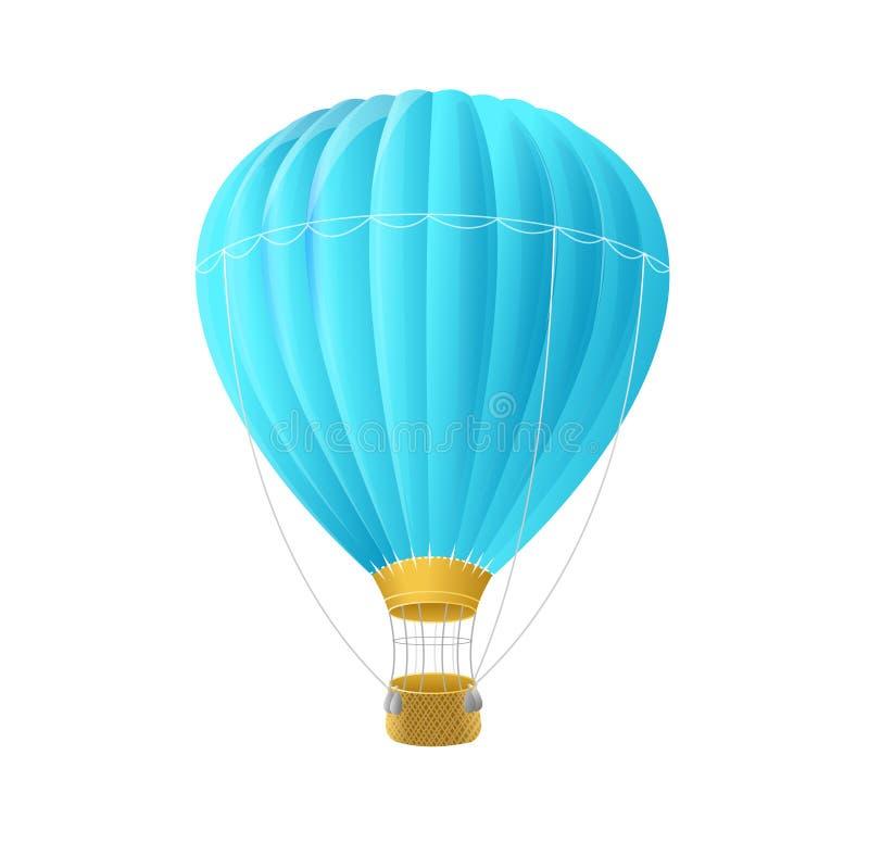 Impulso dell'aria blu di vettore isolato su bianco royalty illustrazione gratis