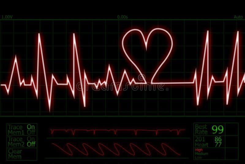 Impulso di battimento di cuore illustrazione vettoriale
