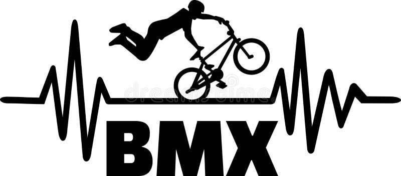 Impulso di battito cardiaco di BMX royalty illustrazione gratis