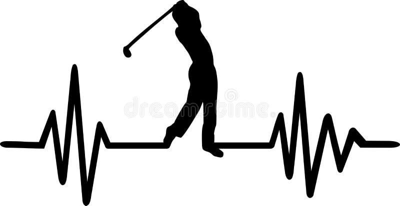 Impulso di battito cardiaco di golf illustrazione di stock