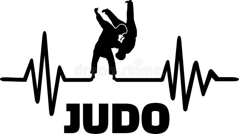 Impulso di battito cardiaco di judo illustrazione vettoriale