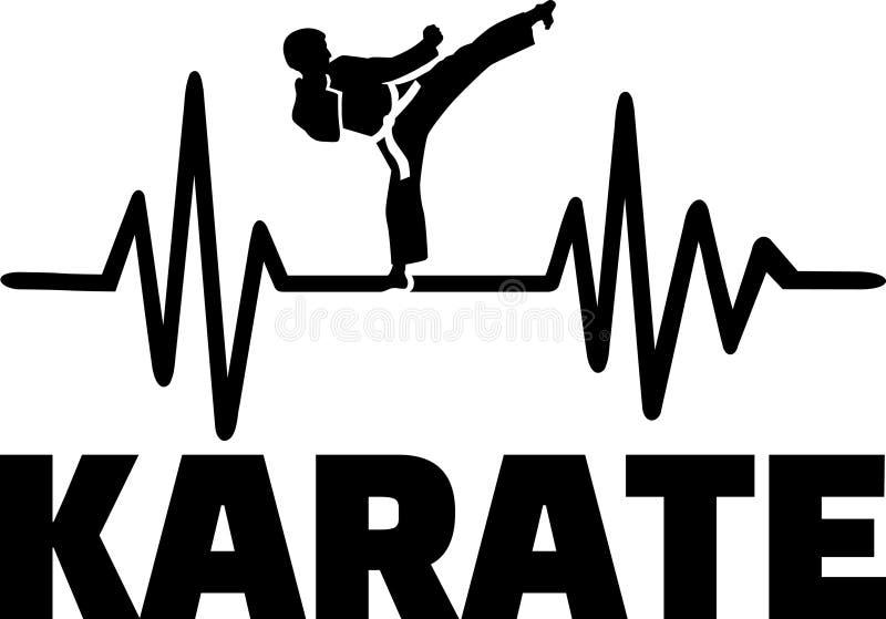 Impulso di battito cardiaco di karatè illustrazione vettoriale