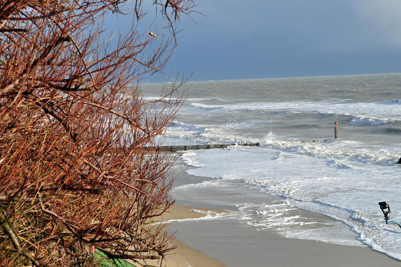 Impulso di marea tempestoso fotografie stock libere da diritti