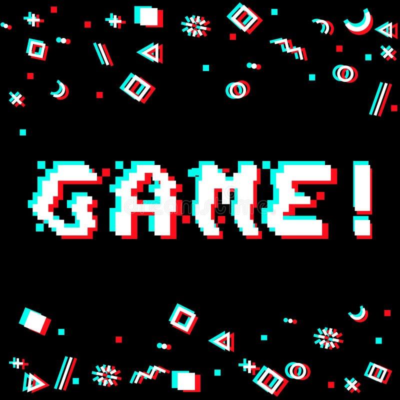 Impulso errato del pixel del gioco di vettore royalty illustrazione gratis