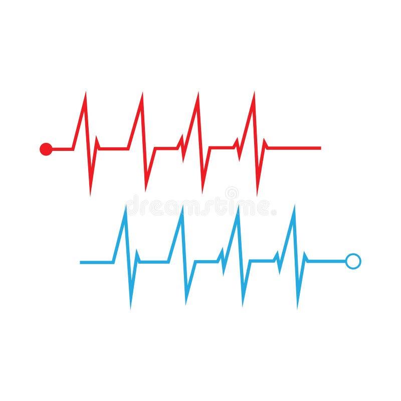 Impulso Logo Symbol Template Vector Illustration rosso royalty illustrazione gratis