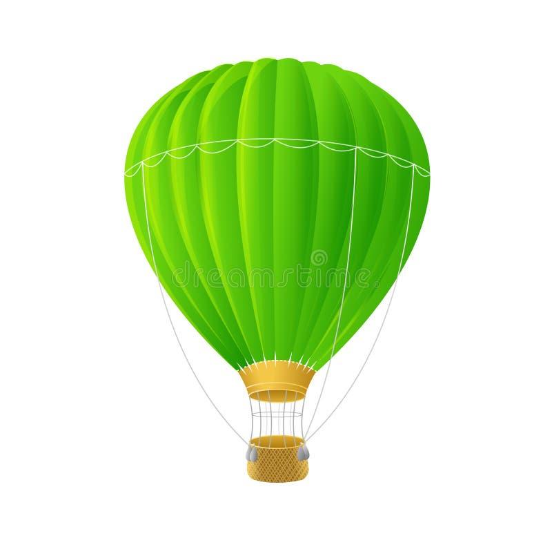 Impulso verde dell'aria di vettore isolato su bianco royalty illustrazione gratis