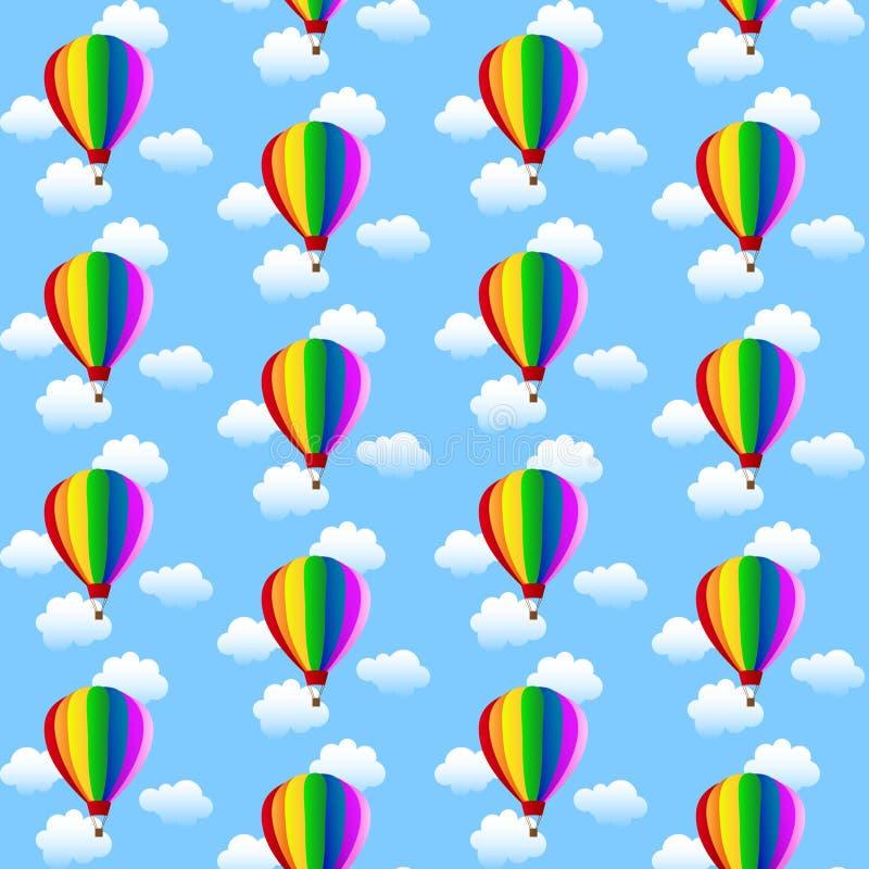 Impulsos coloridos y nubes del whith del modelo stock de ilustración