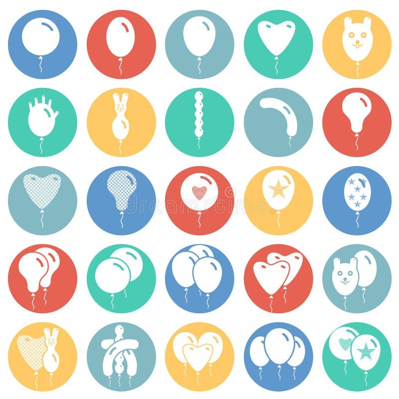Impulspictogrammen die op de achtergrond van kleurencirkels voor grafisch en Webontwerp worden geplaatst Eenvoudig vectorteken In royalty-vrije illustratie