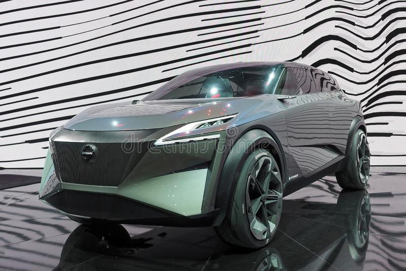 89th Geneva International Motor Show - Nissan IMQ concept. The IMQ is the third concept to bear the `IM` initials of Nissan`s Intelligent Mobility campaign stock photo