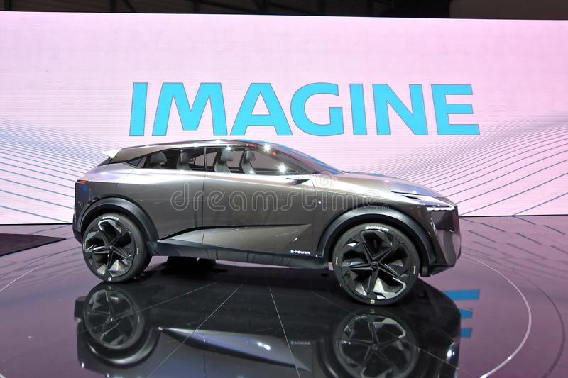 89th Geneva International Motor Show - Nissan IMQ concept. The IMQ is the third concept to bear the `IM` initials of Nissan`s Intelligent Mobility campaign royalty free stock image