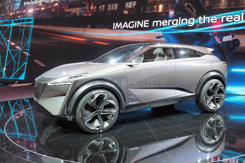 89th Geneva International Motor Show - Nissan IMQ concept. The IMQ is the third concept to bear the `IM` initials of Nissan`s Intelligent Mobility campaign royalty free stock images