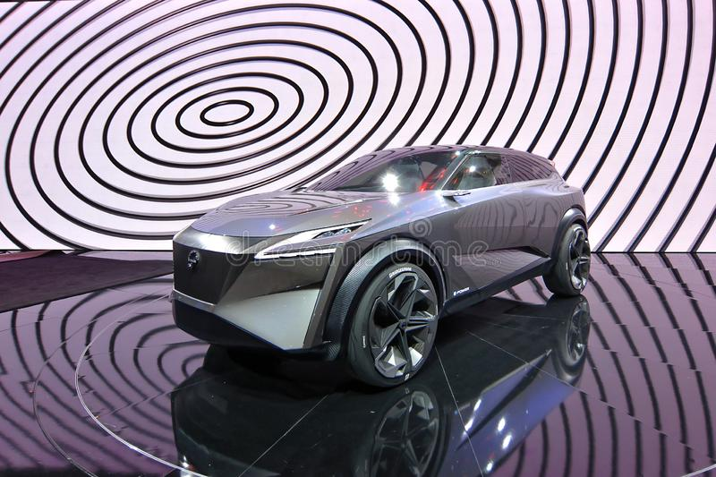 89th Geneva International Motor Show - Nissan IMQ concept. The IMQ is the third concept to bear the `IM` initials of Nissan`s Intelligent Mobility campaign stock image