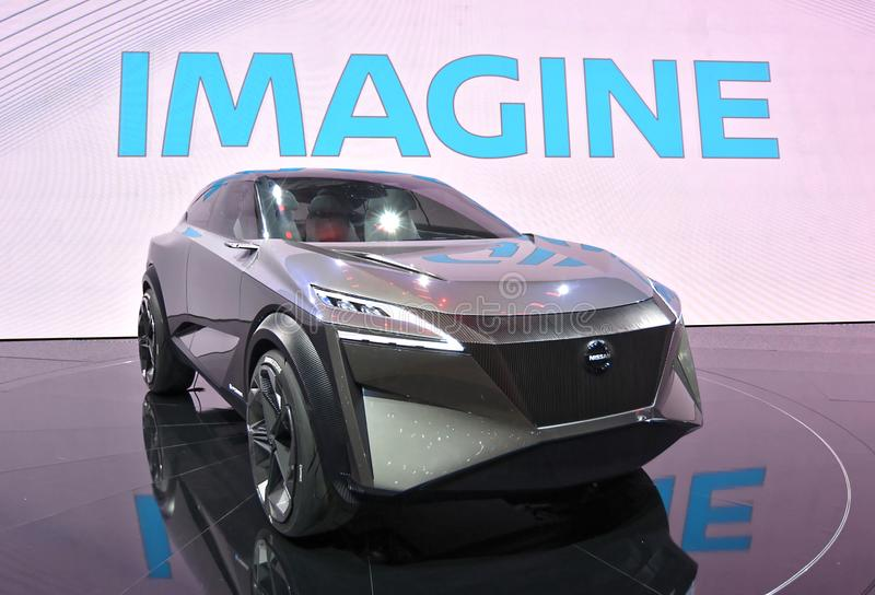 89th Geneva International Motor Show - Nissan IMQ concept. The IMQ is the third concept to bear the `IM` initials of Nissan`s Intelligent Mobility campaign stock photography