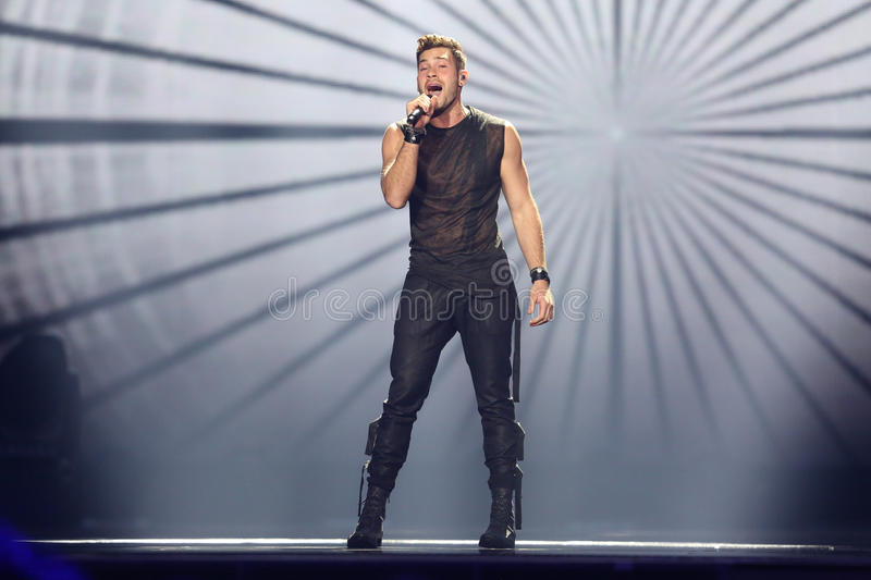 Imri Ziv from Israel Eurovision 2017 stock images