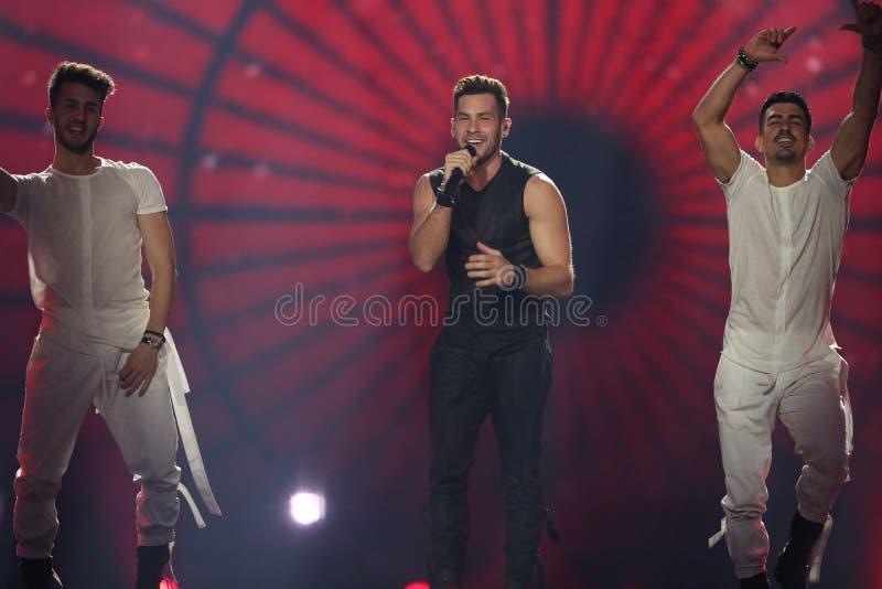Imri Ziv from Israel Eurovision 2017 royalty free stock photos