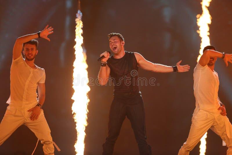 Imri Ziv from Israel Eurovision 2017 stock image
