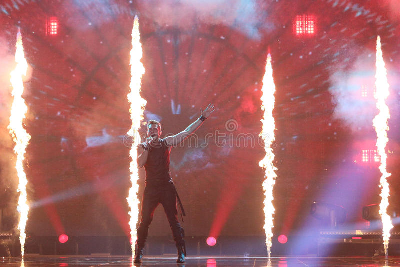 Imri Ziv from Israel Eurovision 2017 royalty free stock photo