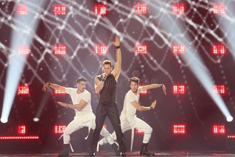 Imri Ziv from Israel Eurovision 2017 royalty free stock image