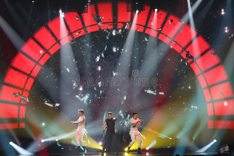 Imri Ziv from Israel Eurovision 2017 stock photography