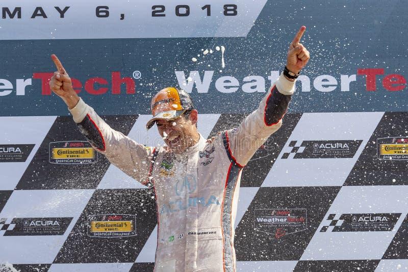 IMSA: 06 mei Acura-Sportwagenuitdaging royalty-vrije stock foto's
