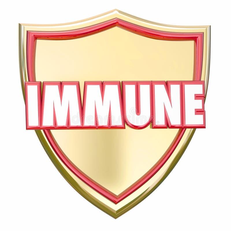 Imunidade segura do risco da doença de vírus da proteção do protetor imune do ouro ilustração do vetor