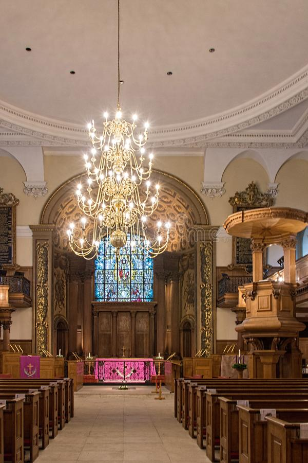 Inércia da igreja do St Alfege na paróquia de Greenwich fotografia de stock